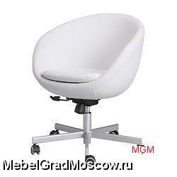 продам белый пушистый стул на колесиках икеа в москва мебель для